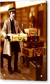 Luggage Please Acrylic Print by Peter Jenkins