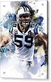Luke Kuechly, Inside Linebacker, Carolina Panthers Acrylic Print