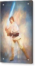 Luke Skywalker Watercolor Acrylic Print