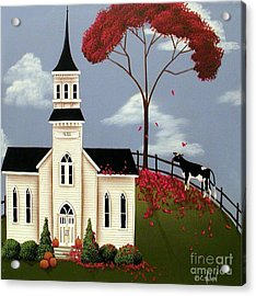 Lulabelle Goes To Church Acrylic Print by Catherine Holman