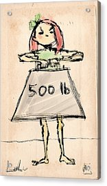 Lulu The Strongest Girl In The World Acrylic Print