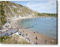 Lulworth Cove Dorset Uk Acrylic Print by Andy Smy