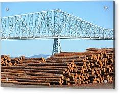 Lumber Mill In Rainier Oregon Acrylic Print