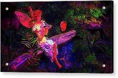 Acrylic Print featuring the photograph Luminescent Night Fairy by Lori Seaman