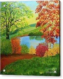 Luminous Colors Of Fall Acrylic Print
