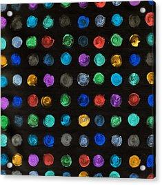 Luminous Polka Dots Acrylic Print