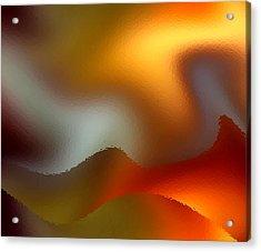 Luminous Waves Acrylic Print by Ruth Palmer