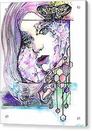 Luna Acrylic Print by Ash Stiller