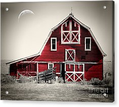 Luna Barn Acrylic Print by Mindy Sommers