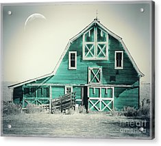 Luna Barn Teal Acrylic Print by Mindy Sommers