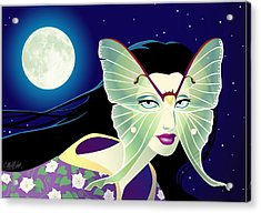 Luna Acrylic Print by Cristina McAllister