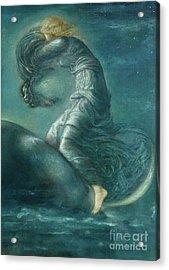 Luna Acrylic Print by Edward Coley Burne-Jones