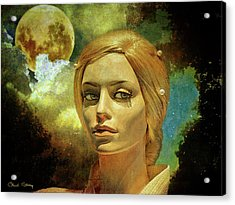 Luna In The Garden Of Evil Acrylic Print