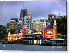 Luna Park Sydney Australia Acrylic Print by Freda Sbordoni