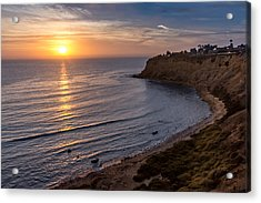 Lunada Bay Sunset Acrylic Print