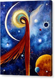 Acrylic Print featuring the painting Lunar Angel by Marina Petro