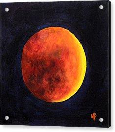 Lunar Eclipse Acrylic Print by Marina Petro