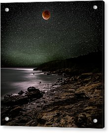 Lunar Eclipse Over Great Head Acrylic Print