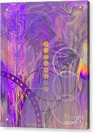 Lunar Impressions 3 Acrylic Print by John Beck