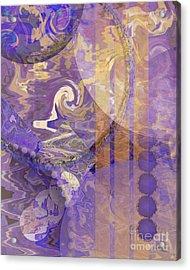 Lunar Impressions Acrylic Print by John Beck