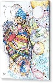 Lunas Y Estrellas Perdidas- Sombra De Arreguin Acrylic Print