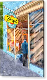 Lunch At Troy's Snack Shack Acrylic Print by Mark Tisdale
