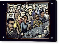 Lunch Counter Acrylic Print by Ricardo Levins Morales