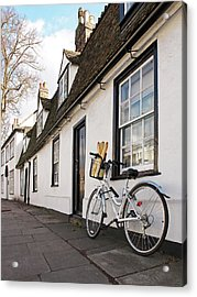 Acrylic Print featuring the photograph Lunch French Style By Bicycle In Cambridge by Gill Billington