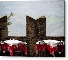 Lunch With A View Acrylic Print by Rae Tucker