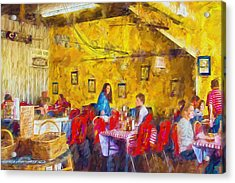 Lunchtime - Country Cafe Acrylic Print by Barry Jones