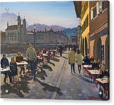 Lunchtime In Luzern Acrylic Print