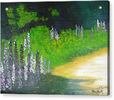 Lupens On Buccaneer Road Acrylic Print by Rae  Smith