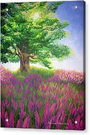 Lupine Afternoon Acrylic Print by Sharon Marcella Marston