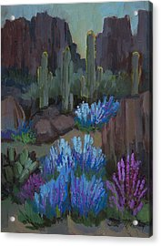 Lupine In Bloom At Boyce Thompson Arboretum Acrylic Print by Diane McClary