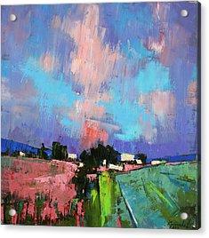 Acrylic Print featuring the painting Lupines Color by Anastasija Kraineva