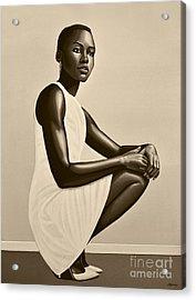 Lupita Nyong'o Acrylic Print by Paul Meijering