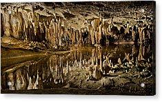Luray Caverns - Virginia - Reflections At Dream Lake Acrylic Print by Brendan Reals