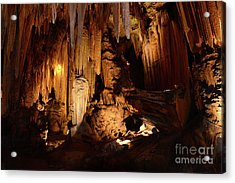 Luray Dark Caverns Acrylic Print by Paul Ward