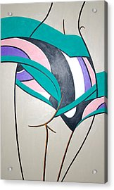 Luring Curves Acrylic Print by Guadalupe Herrera