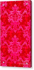 Luscious Neo Baroque Hot Pink Bubblegum Damask Acrylic Print