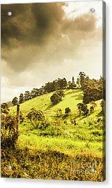 Lush Green Country Farmland Acrylic Print
