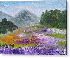 Acrylic Print featuring the painting Lush by Trilby Cole