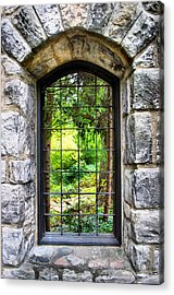Lushness Beyond The Walls Acrylic Print by Kristin Elmquist