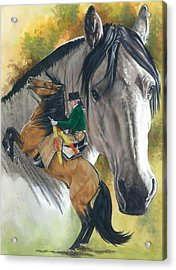 Acrylic Print featuring the painting Lusitano by Barbara Keith