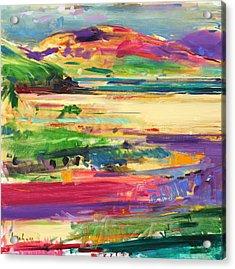 Luskintyre  Harris Acrylic Print by Peter Graham