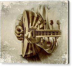 Grey Lutenist Acrylic Print by Moustafa Al Hatter