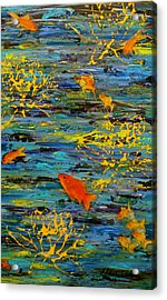 Acrylic Print featuring the painting Lux by D Renee Wilson