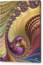 Luxe Colorful Fractal Spiral Acrylic Print