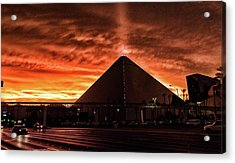 Acrylic Print featuring the photograph Luxor Las Vegas by Michael Rogers