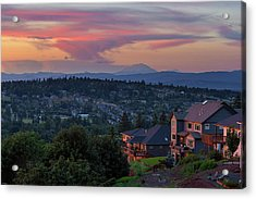 Luxury Homes In Happy Valley Oregon Acrylic Print by David Gn